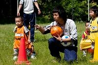 サッカー教室の幼児、幼稚園児写真1